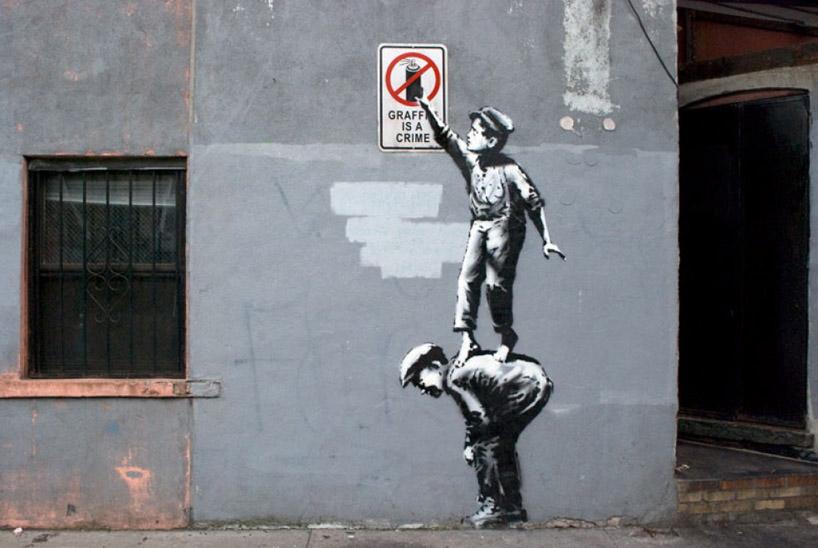Banksy visiva art salvate comunicazione di la agenzia street e zqrRBz