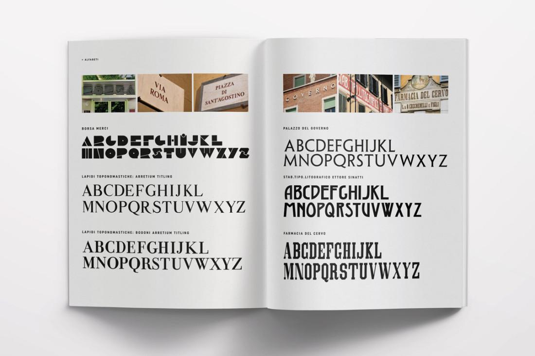 De Signs Arezzo, paesaggio urbano di una città toscana. Libro fotografico. I segni della città è la sua identità. Alfabeti della città, type e scritture.