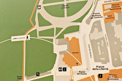scenografia urbana, Comune di Arezzo, segnaletica, lapidi toponomastiche, type