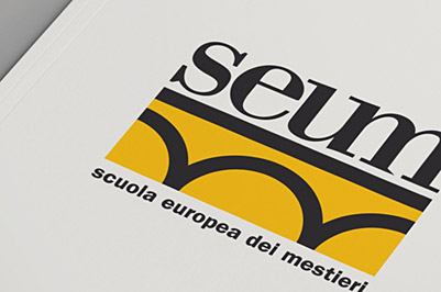 wayfinding, signage, learning, logo, brand identity, scuola europea dei mestieri