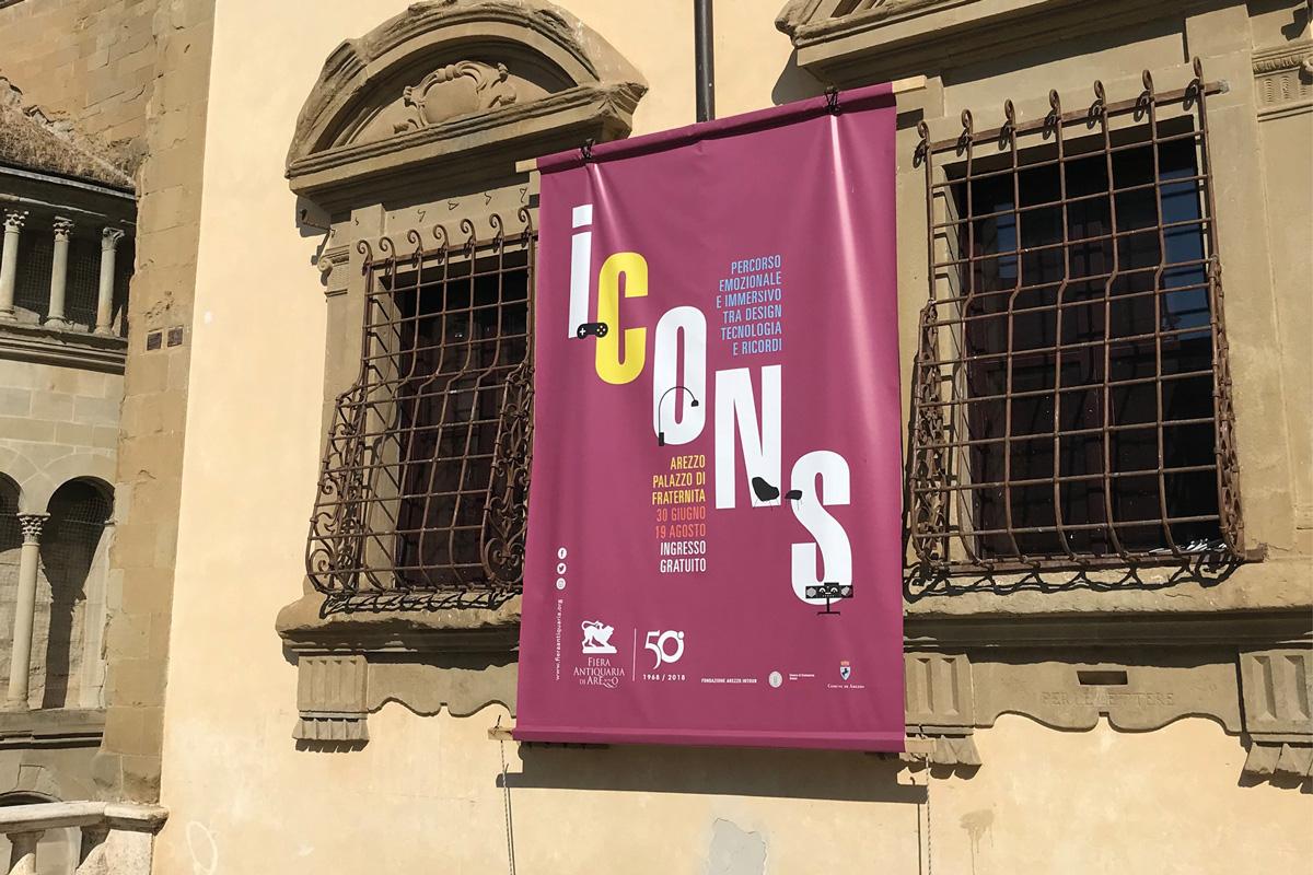 Icons, percorso immersivo, fiera antiquaria di Arezzo, Arezzo, identity mostra
